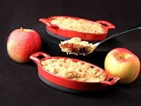 Apple Crumble with Calvados