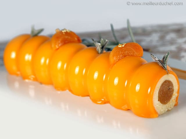 Apricot & Rosemary Entremets