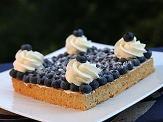 Blueberry Tart with Mascarpone Chantilly Cream