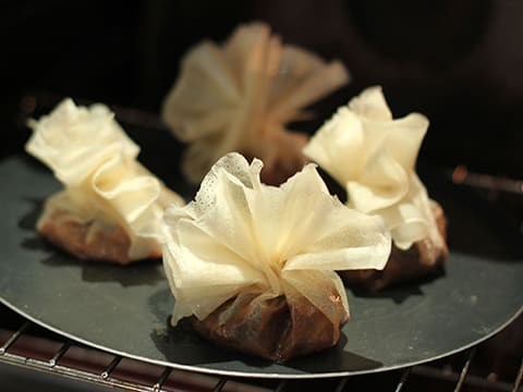 Brik Pastry Purses with Caramelized Pears - 17