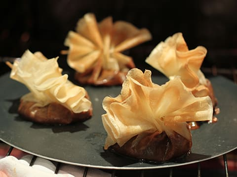 Brik Pastry Purses with Caramelized Pears - 18