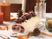 Mascarpone & Red Berry Bûche de Noël