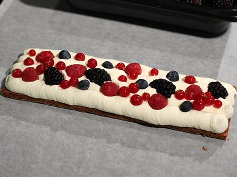 Chantilly Millefeuille with Red Berries - 64