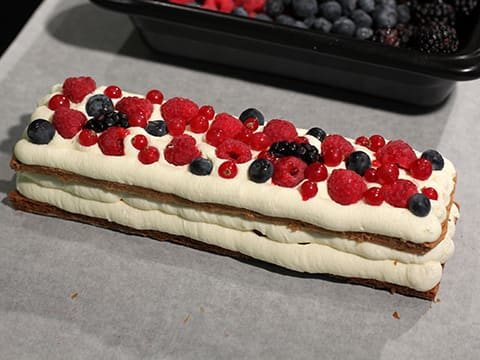 Chantilly Millefeuille with Red Berries - 68