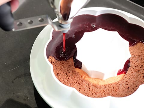 Chocolate, Cherry and Piquillo Pepper Entremets - 58