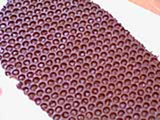 Chocolate embossing