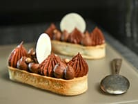 Chocolate & Nougatine Tartlets