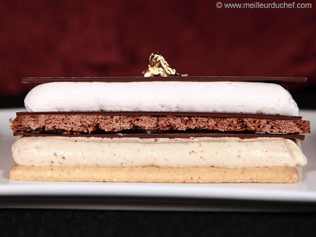 Chocolate, Praliné & Chestnut Millefeuille