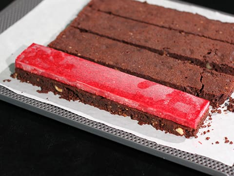 Chocolate & Raspberry Entremets, on a Brownie Biscuit - 92