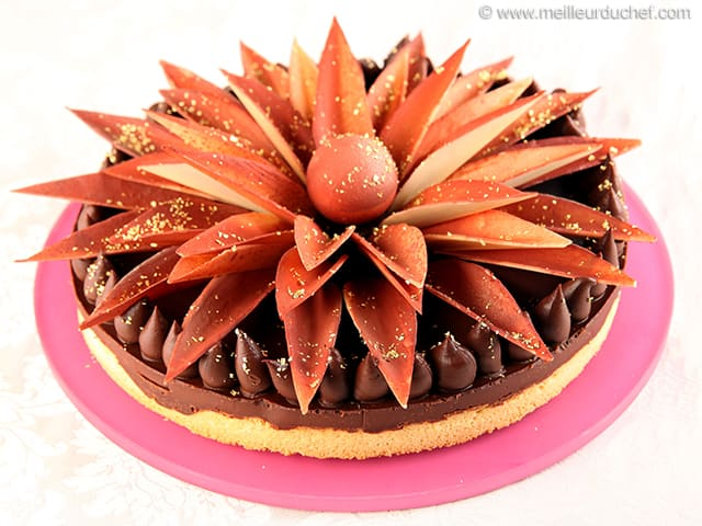 Chocolate Tart, like a Flower