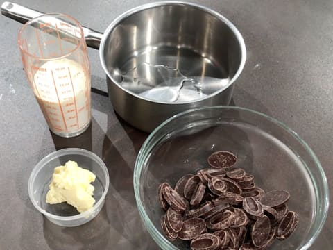 All ingredients for the chocolate ganache