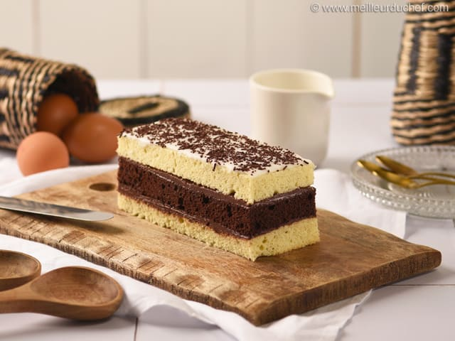 Chocolate & Vanilla Layer Cake