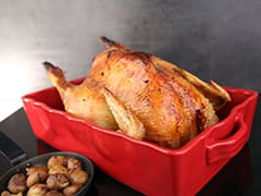 Christmas Chicken with Chestnut Stuffing & Almond Potatoes