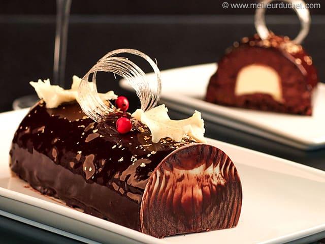 chocolate crme brle yule log - Christmas Yule Log Cake
