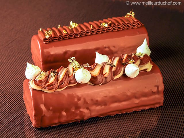 Two-Chocolate & Pear Yule Log