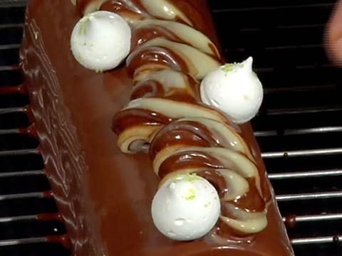 Two-Chocolate & Pear Yule Log - 59