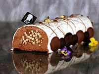 Crispy Chocolate Yule Log