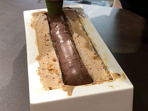 Three-Flavour Ice Cream Yule Log - 83