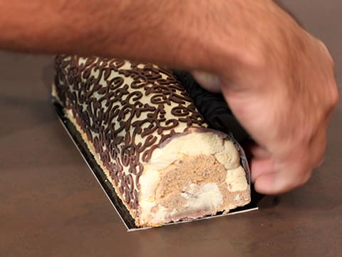 Three-Flavour Ice Cream Yule Log - 96