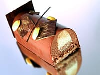 Milk Chocolate Yule Log with Passion Fruit