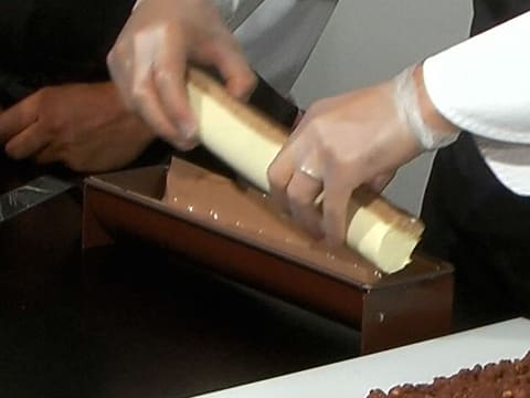 Milk Chocolate Yule Log with Passion Fruit - 52