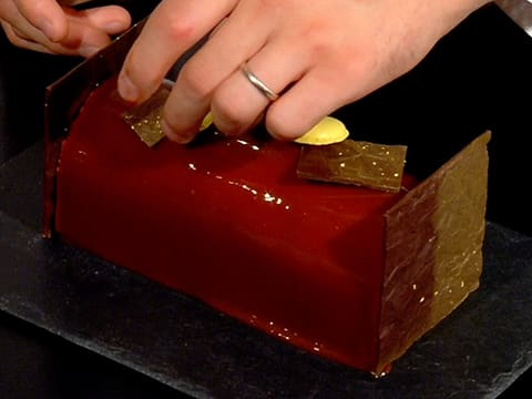 Milk Chocolate Yule Log with Passion Fruit - 62