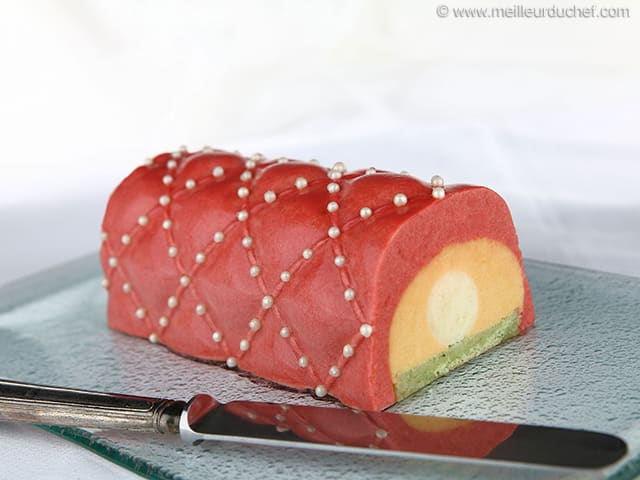 Three-Fruit Yule Log