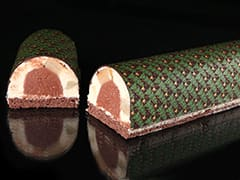 Pear & Chocolate Yule Log