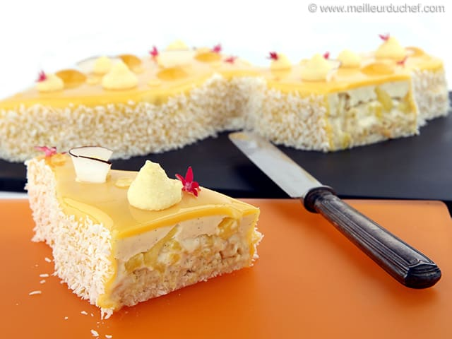 Coconut & Pineapple Entremets