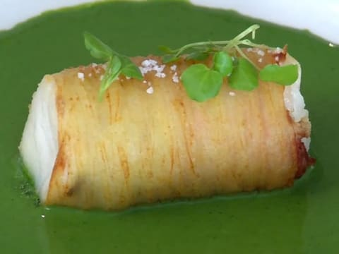 Cod Loin in a Potato Crust with Watercress Sauce - 43