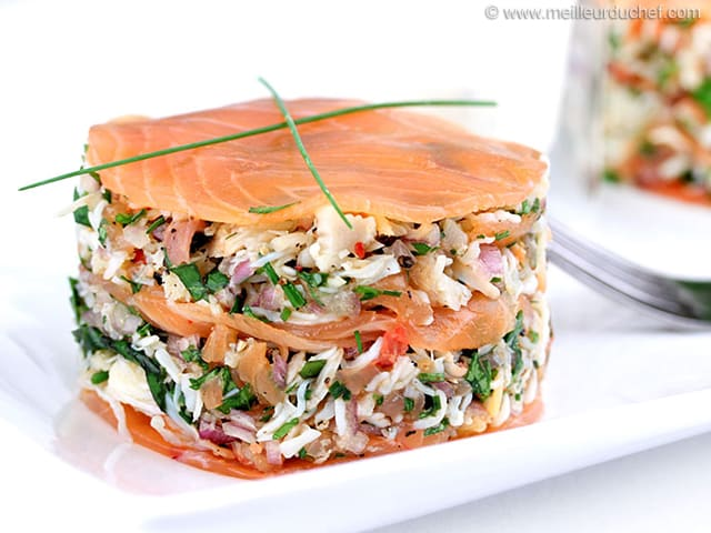 Crab & Smoked Salmon Stack