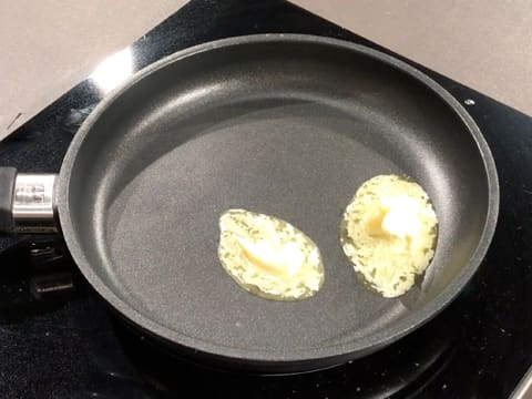 Melt the butter in a frying pan