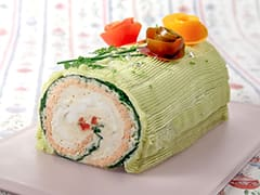 Fish Terrine like a Yule Log