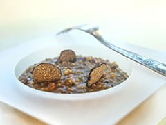 Fregola Sarda Risotto with Black Truffle