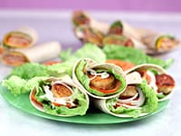 Breaded Goat's Cheese Wraps
