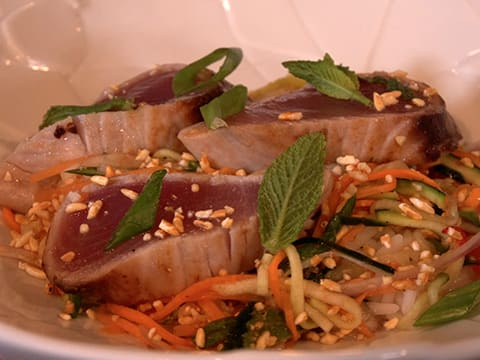 Grilled Bonito, Crunchy Salad with Toasted Rice & Yuzu - 49
