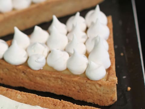 Lemon & Meringue with Raspberry & Mascarpone Chantilly Cream Tart, in Individual Tartlets - 44