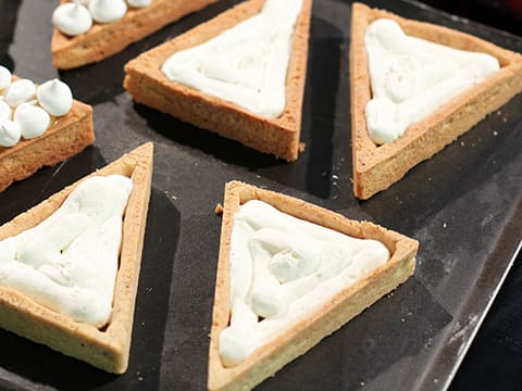 Lemon & Meringue with Raspberry & Mascarpone Chantilly Cream Tart, in Individual Tartlets - 48