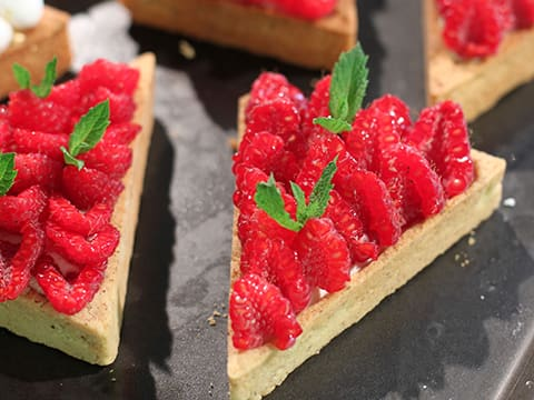 Lemon & Meringue with Raspberry & Mascarpone Chantilly Cream Tart, in Individual Tartlets - 51