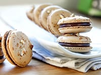 Milk Chocolate & Hazelnut Macarons