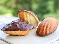 Chocolate-Dipped Madeleines