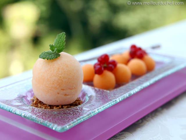 Melon Sorbet - Recipe with images - MeilleurduChef.com