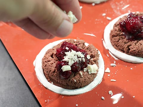 Meringue Spheres with Chocolate Mousse, Ginger & Cherry Compote - 29