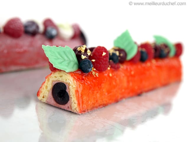 Mini Yule Logs with Amarena Cherries