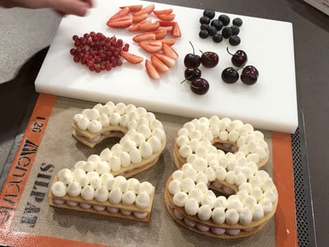 Number Cake with Red Berries - 69