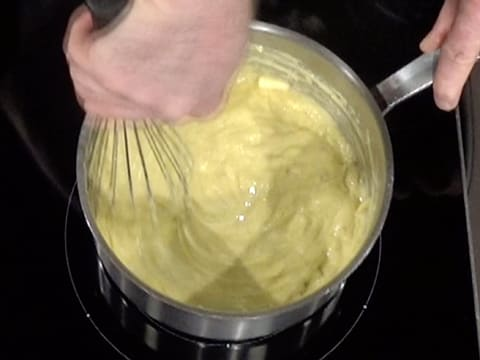 Whisk the pastry cream