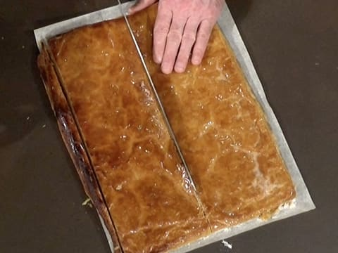 Cut the puff pastry in half lengthwise