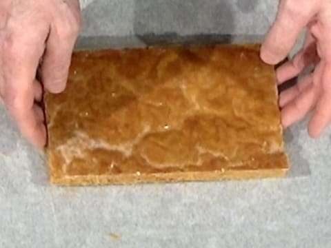 Place one pastry strip on a baking sheet lined with baking parchment