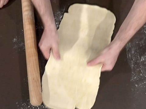 Roll out dough into a long rectangle