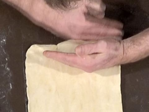 Shape the dough into a rectangle with right angles